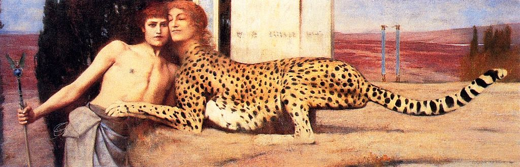 Caresses, Fernand Khnopff, 1896