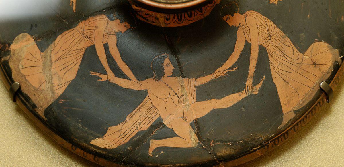 Pentheus torn apart by maenads