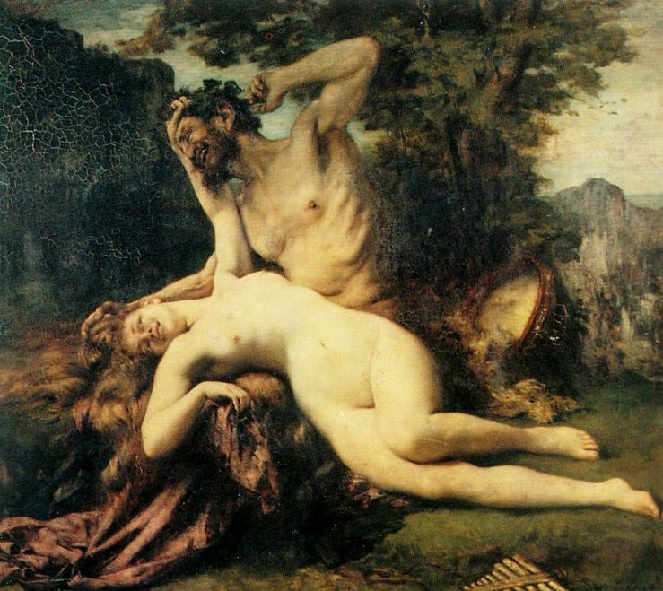 Satyre and Menade, Henri Gervex, 1874