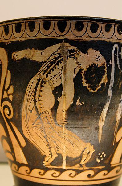 Dancing maenad vase