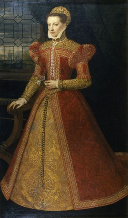 Oil painting of Mary Stuart