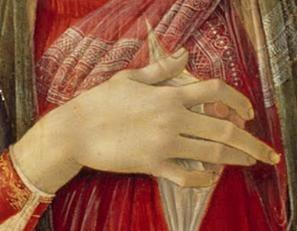 Madonna holds her nipple