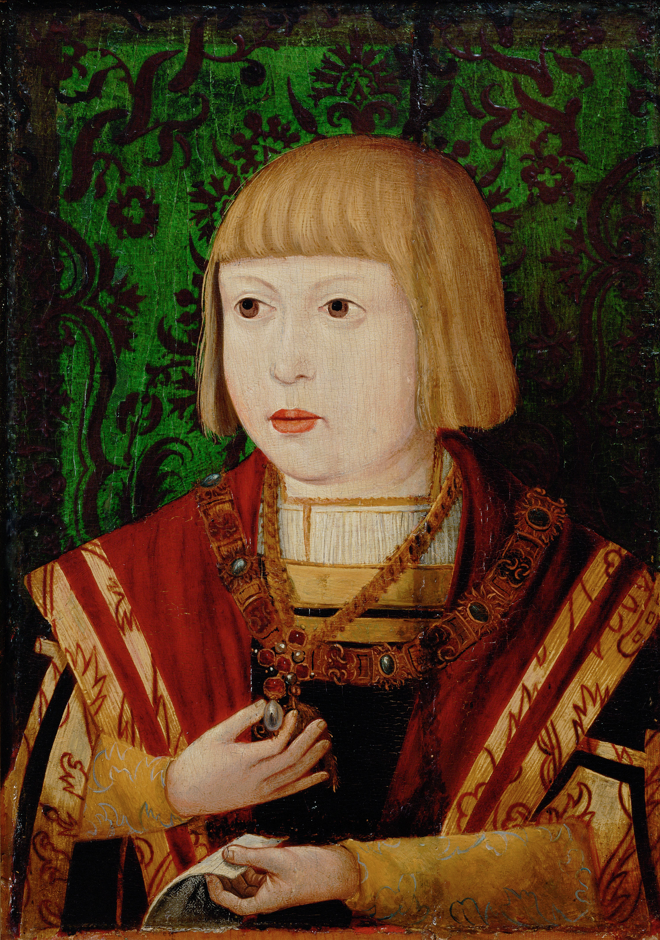 Painting of Emperor Ferdinand I holding pearl