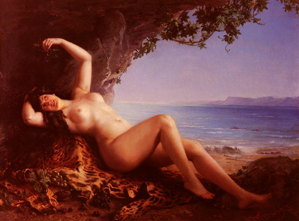 oil painting bacchante