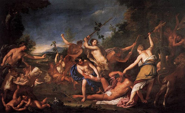Orpheus and the Bacchantes