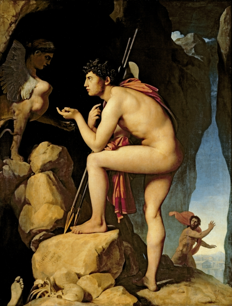 Oedipus and the Sphinx, Jean Auguste Dominique Ingres, 1808