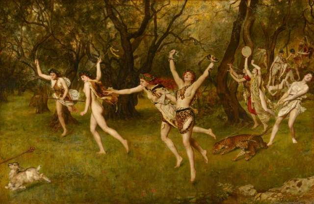 oil painting maenads