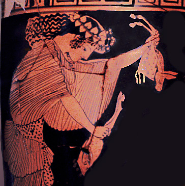 maenad ripping apart animal
