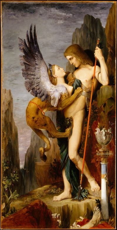 Oedipus and the Sphinx, Gustave Moreau, 1864