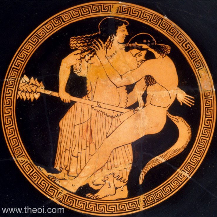 Satyr and Maenad Kylix