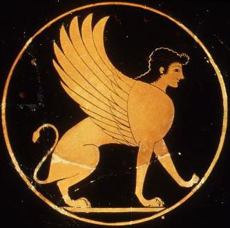 Sphinx Greek red-figure vase
