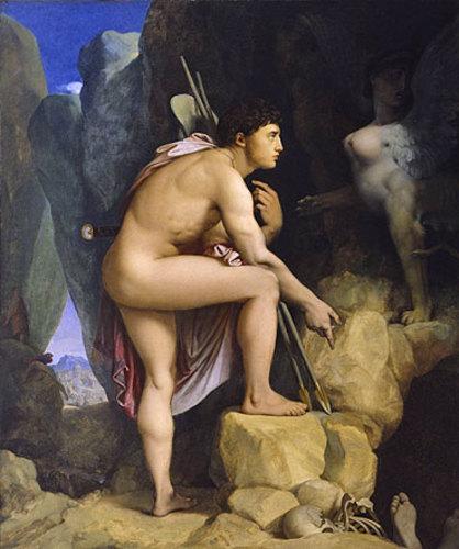 Oedipus and the Sphinx, Jean Auguste Dominique Ingres, 1864