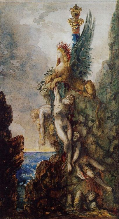The Victorious Sphinx, Gustave Moreau, 1886