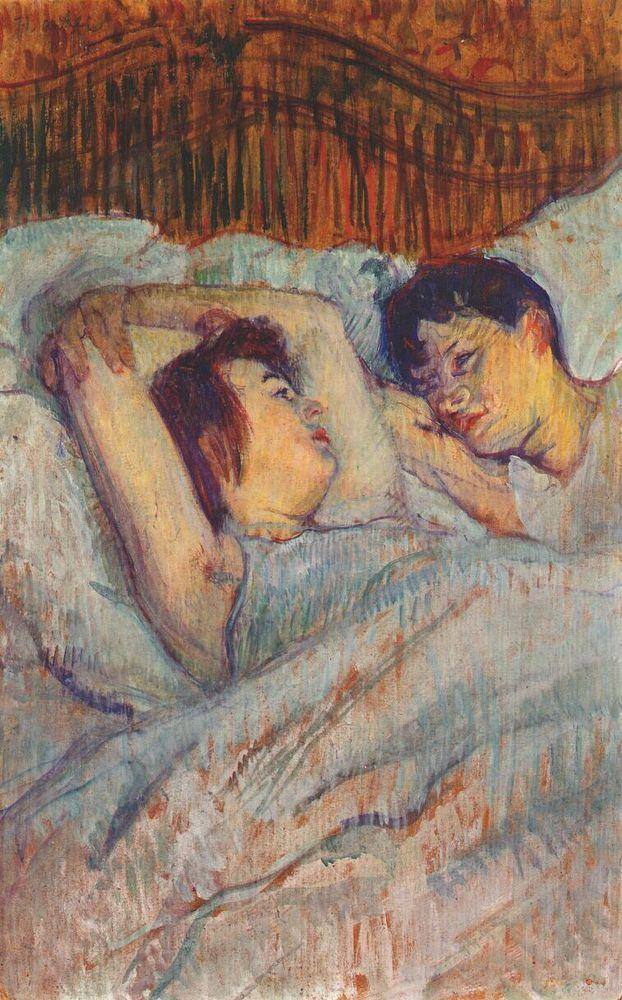 In Bed, Henri de Toulouse-Lautrec, 1892