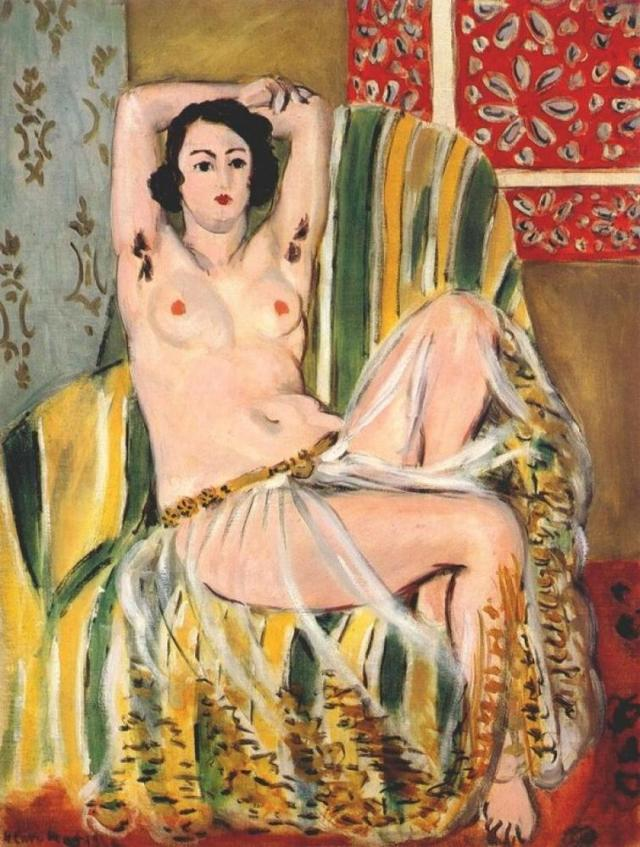 Odalisque with Raised Arms, Henri Matisse, 1923