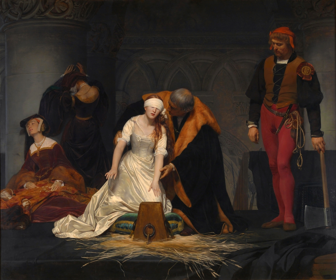 Execution of Lady Jane Grey, Paul Delaroche, 1834