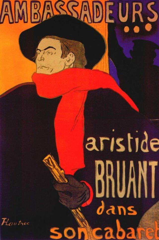 Ambassadeurs: Aristide Bruant dans son cabaret, Toulouse-Lautrec, 1892
