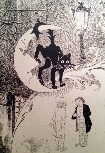 Detail from Le Chat Noir Ballade