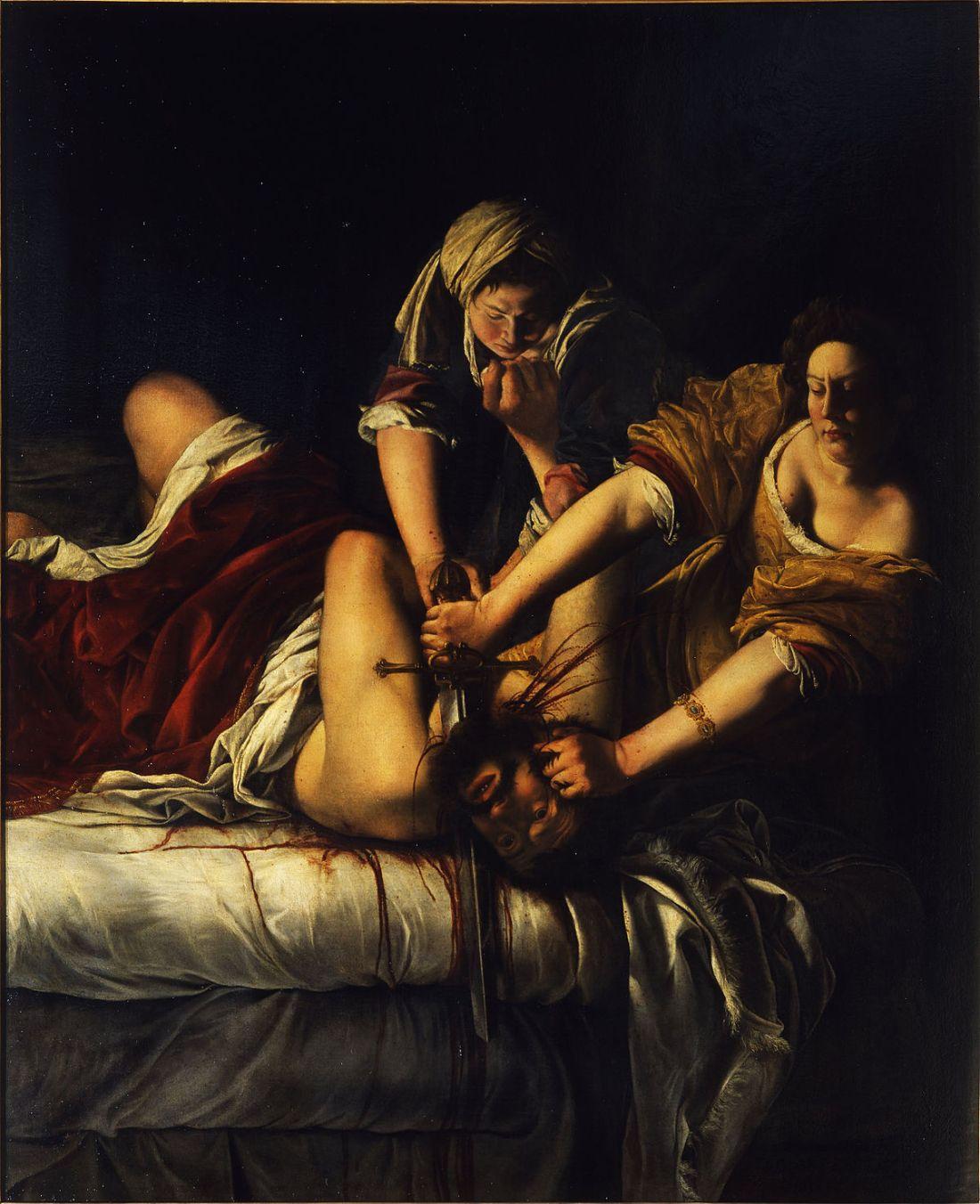 Judith Slaying Holofernes, Artemisia Gentileschi, 1614 - 20
