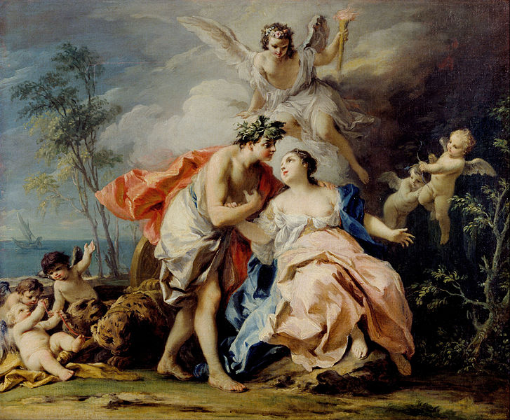 Bacchus and Ariadne, Jacopo Amigoni, 1740-2
