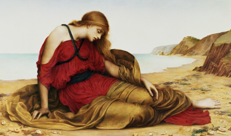 Ariadne in Naxos, by Evelyn De Morgan, 1877