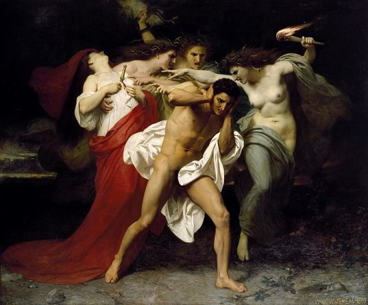 Orestes Pursued by the Furies, William-Adolphe Bouguereau, 1862