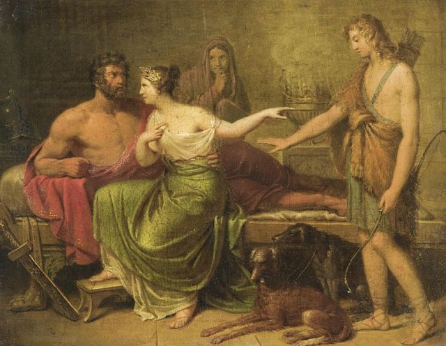 Hippolytus, Phaedra and Theseus, German School, 18th century