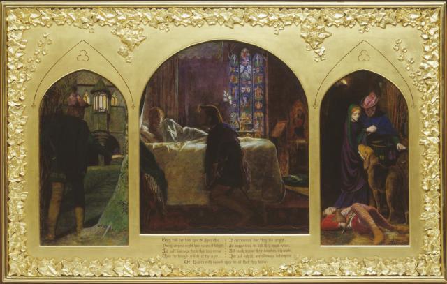 The Eve of St Agnes, Arthur Hughes, 1856