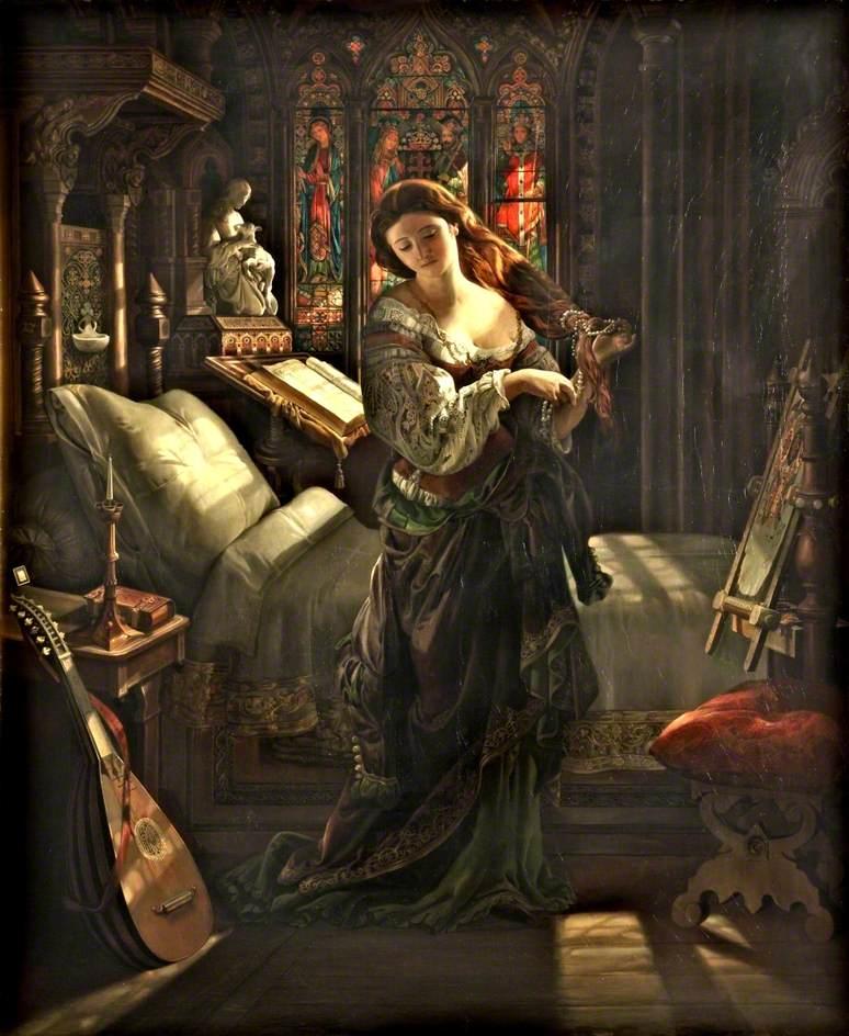 Madeline after Prayer, Daniel Maclise, 1868