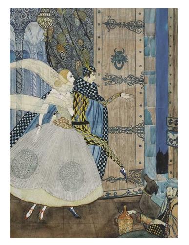 Illustration to John Keat's poem, The eve of St. Agnes, Harry Clarke
