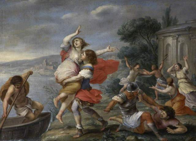 Helen Carried Off by Theseus, Giovanni Francesco Romanelli, 17th century