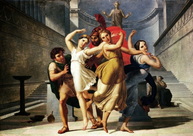 Theseus and Pirithous abducting Elena, Pelagio Palagi, 1814