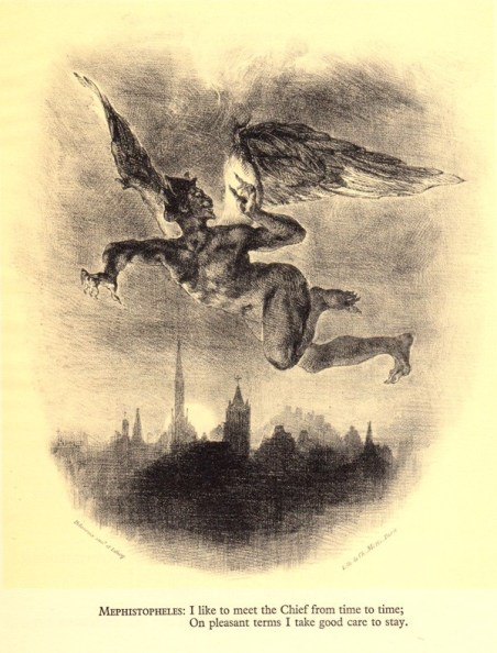 Illustration of Mephistopheles by Eugène Delacroix
