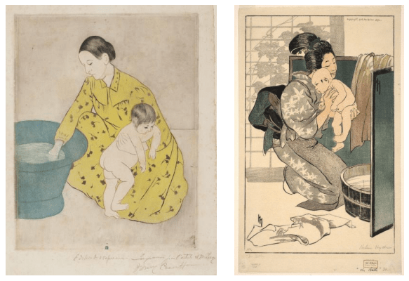 The Bath, Mary Cassatt and Helen Hyde