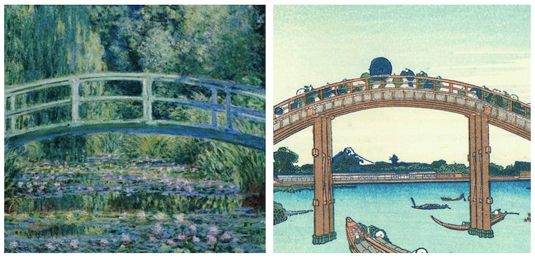Impressionist and ukiyo-e comparison